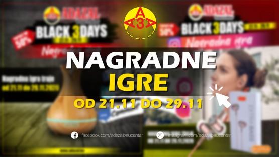FB i INSTA nagradne igre u Adazal Baucentru od 21.11 do 29.11