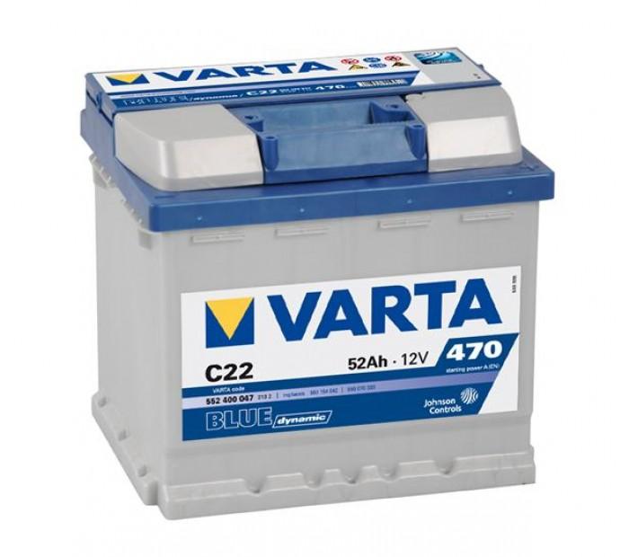 Akumulator VARTA blue 12V 52AH D+