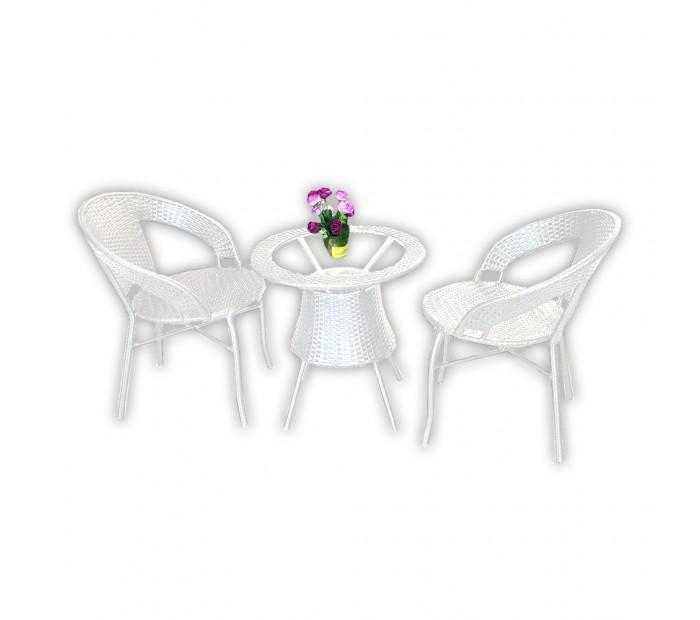 Stol FI60 + 2 stolice (BIJELI) A596