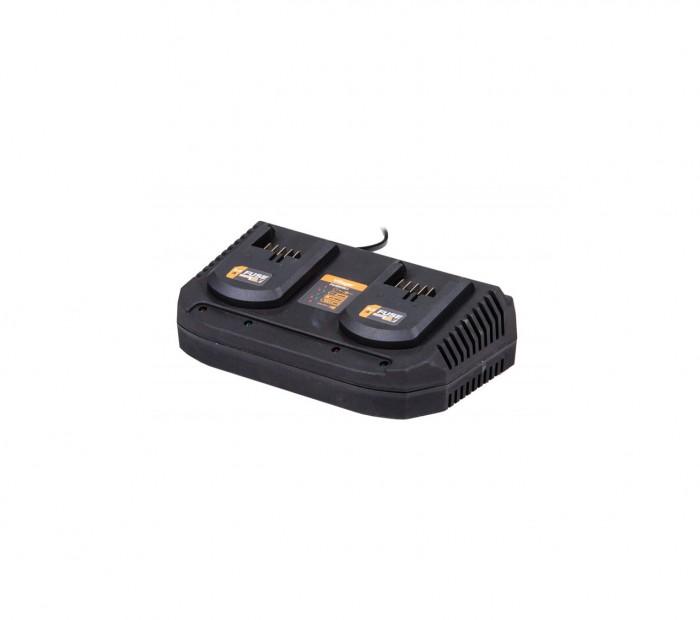 VILLAGER fuse punjač za 2 baterije 18V 2x3,5A