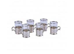 Set za čaj sarina za 6 osoba boja srebrena